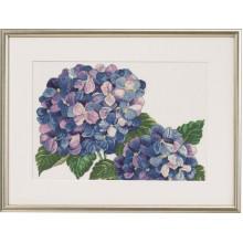Blomsterbroderi Pæon/Hortensia